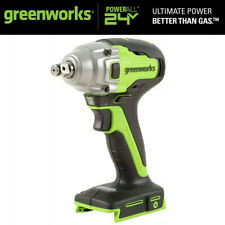 Greenworks 24v Max Cordless Impact Wrench 12 High Torque Brushless Power Tool