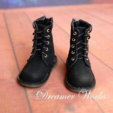 Matte Black  Mimi Collection MSD Doc 1/4 BJD Obitsu Doll Shoes Strap Boots