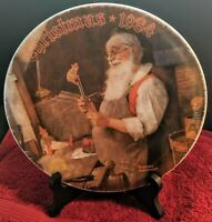 Norman Rockwell Christmas 1984 Collector Plate with original box and certificate