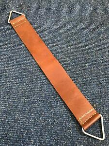 HANDMADE COW THICK LEATHER STROP BELT FOR RAZOR SHARPENING BARBER TOOL WITH HOOK