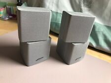 Bose Lifestyle Acoustimass Doppelcube Lautsprecher EiN PAAR Silber TOP Zustand