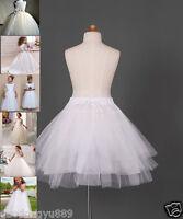 Flower Girl dress Children Underskirt Kid Wedding Crinoline Petticoat Size :S-M