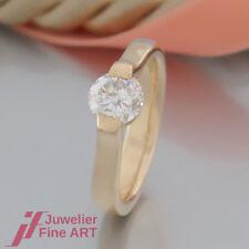 Ring - Solitär-Spannring-Optik- 1 Brillant(Diamant) 1,11ct - 18K/750 Gelbgold