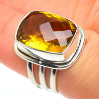 Mandarin Citrine 925 Sterling Silver Ring Size 6.75 Ana Co Jewelry R61230F