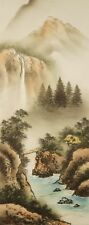 Landschaft Japanisches Rollbild Kakejiku Kakemono roll-up hanging scroll 4834