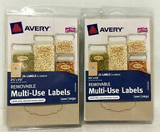 """Two Packages of Avery Removable Multi-Use Labels, 24/Pack, 2.25"""" x 1.125"""", New"""