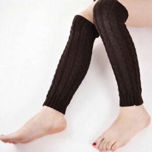 Long Socks Slouch Winter Warm Knitted Leggings Ladies Womens Crochet Leg Warmers