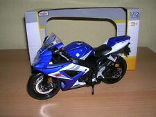 Maisto SUZUKI GSXR750/ gsx-r750/ GSX-R 750 Azul Blanco, 1:12