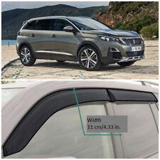 Wide Window Visors Side Sun Rain Guard Vent Deflectors For Peugeot 5008 2018-