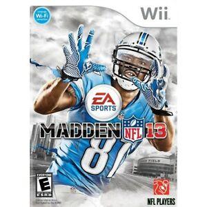 Madden NFL 13 Wii Game