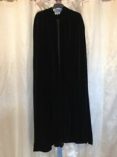 Vintage Velvet, Raven Hooded Cloak, Gothic, Steampunk, Vampire, etc.