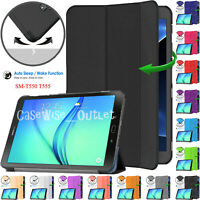 """Leather Smart Magnetic Stand Case Cover For Samsung Galaxy Tab A 9.7"""" T550/T555"""