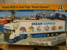 "Maquette Camion 1/24 ITALERI Scania R620 & Semi Frigo ""Océan Express"" Ref 3852"