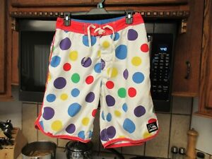 Quiksilver board shorts Men's 30 waist retro Polka Dots out of print