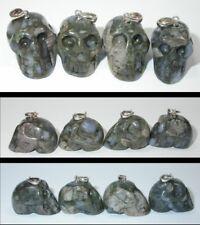 ~NEW!~ 1 Brazilian QUE SERA STONE Crystal Skull PENDANT!