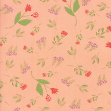"""MODA FABRIC """"THE FRONT PORCH""""  PEACH   37541 12 QUILTING SEWING 100% COTTON"""
