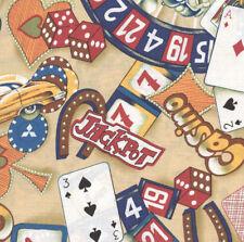 Casinos & Convertibles (Cream) Quilt Fabric - 1 1/4 Yard Piece