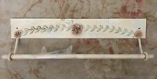 Towel Rack/Rail w Roses (Wall Mount) Made of Painted Metal Length 25 Inches EUC!