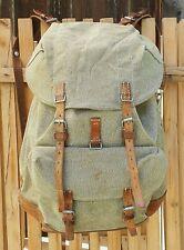 Robuster alter Schweizer Armee Rucksack - aus Segeltuch & Leder, tolles Original