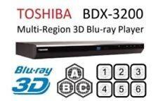 Toshiba MULTI REGION All Free A B C DVD1-8 3D BDX3200 Blu-Ray Player N/BOX