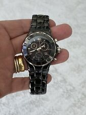 Womens Technomarine Cruise Ceramic Analog Swiss Quartz Black Watch