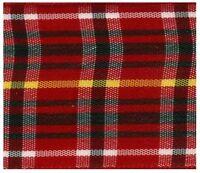 25mm Traditional Red Scottish Tartan Ribbon