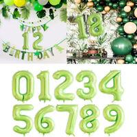 "40"" Green Balloons Balloon Number Decoration Wedding Aluminum Foil Birthday"