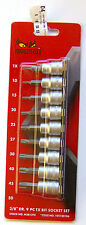 Teng Tools m3813tx TX DOUILLES EMBOUTS EN Set avec 1cm MOTEUR Lot de 9 102180106