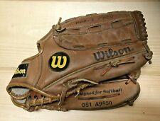 "Wilson OS1 A9850 Optima Silver Dual Hinge 13"" Softball Glove RH Thrower"