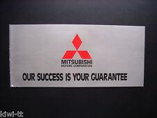 Mitsubishi Modelle (Lancer, Galant, Celeste) Prospekt / Depliant, Belgien (F)