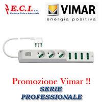 VIMAR 00425.CC.B MULTIPRESA CIABATTA UNIVERSALE 7 POSTI + CAVO PROFESSIONALE
