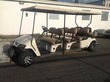 2001 EZGO PDS ELECTRIC 8 passenger seat limo golf cart white