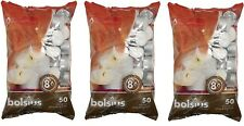 3x Bolsius Tealight Candles White - Pack of 50 - 8 Hour Burn Time