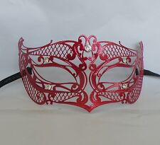 Red Filigree Metal Masquerade Mask * New * - Express Post Available