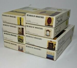 Vtg X-ACTO Collectors Series The House Of Miniatures Furniture Lot Of 8 Opened