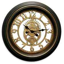 """Black Brown Gear Wall Clock Vintage Rustic Style Office Home Art Decor Large 20"""""""