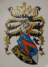 Keramikteller UNBEKANNTES ADELSWAPPEN, wohl Belgien Ende 19. Jhdt. Allianzwappen