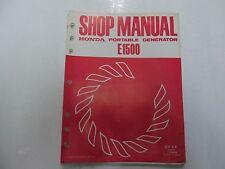 1975 Honda E1500 Portable Generator Shop Manual LOOSE LEAF WATER DAMAGED OEM ***