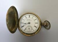 ANTIQUE 1888 SETH THOMAS SIZE 18 POCKET WATCH BUCKEYE CASE RUNS WELL