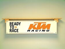 KTM Banner Ready to Race Workshop Garage Motorcycle Racing Trackside Motorsport