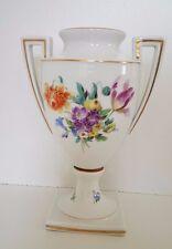 1000 años ciudad Meissen ánfora trofeo 20 cm henkel jarrón de flores marco dorado 1929