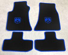 Autoteppich Fußmatten für Dodge Challenger ab Bj.2008' Velours sw blau 4tlg. Neu