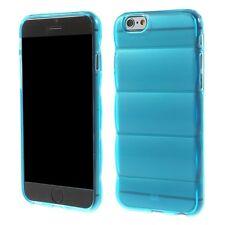 housse etui gel silicone per Iphone 6 4.7 turquoise transparent slim tpu