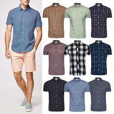 Men's hightstreet Check Shirt Short Sleeve Shirt Casual Check Designer Shirt