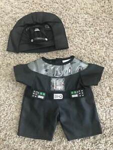 Build A Bear Clothing Lot/Star Wars/Darth Vader Outfit With Matching Helmet