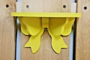 Cute Small Decorative Yellow Painted Bow Shelf