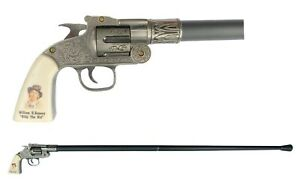 BILLY THE KID Pistol Shaped Cane - Walking Stick Revolver Wild West Collectible