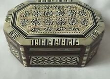 Beautiful Wooden Jewellery Box With Pearl Mosaic