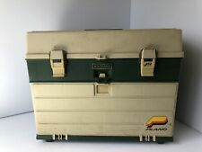 Used Full Plano 787 Tackle Box With Hooks Lures Rubber Worms Salmon Walleye