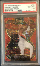 2019 Panini Select Red Disco Prizm DAMIAN LILLARD #'d 03/49 PSA 10 GEM MINT #78